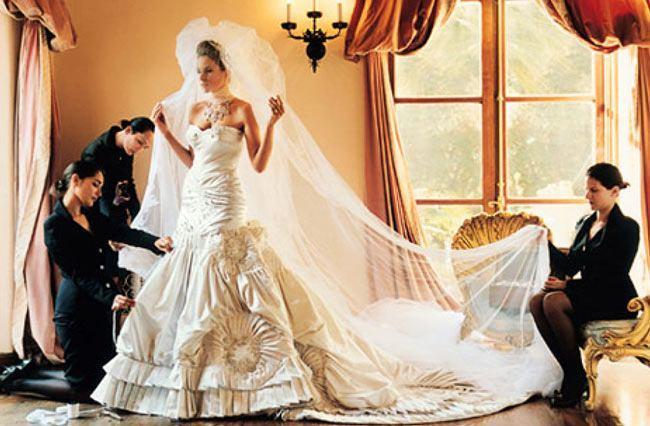 Melania Knauss Wedding Dress  - Najdroższe suknie ślubne świata