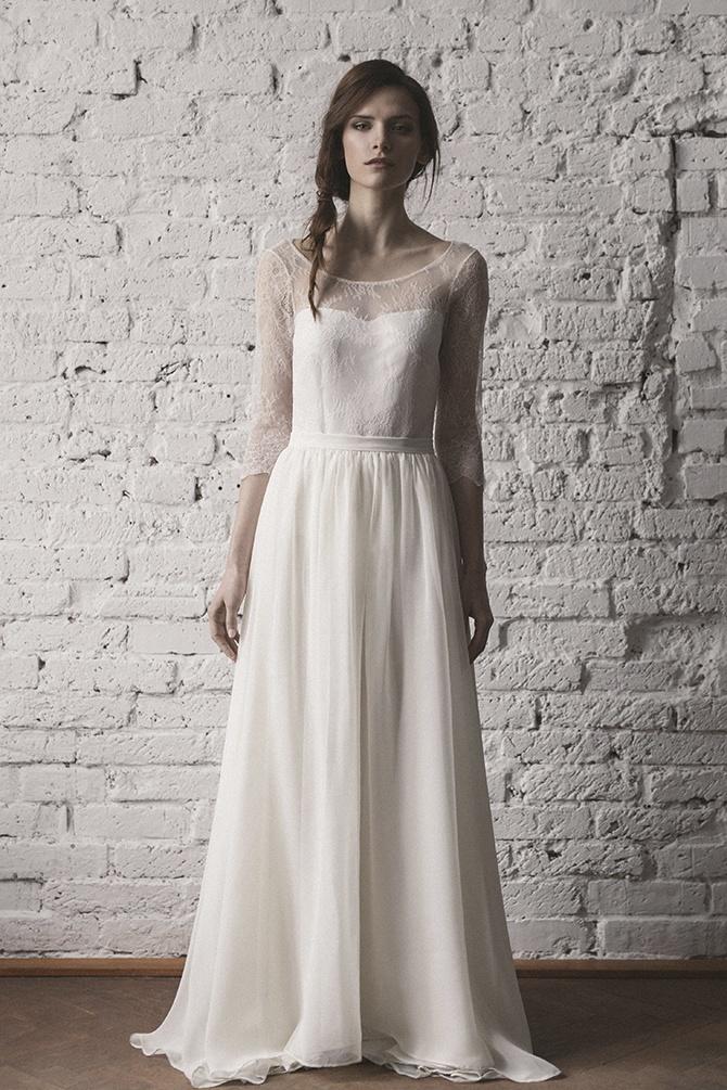 suknia slubna z odkrytymi plecami 2 Emilie Kolekcja 2016 Karolina Twardowska Atelier - Suknie ślubne od polskich projektantów