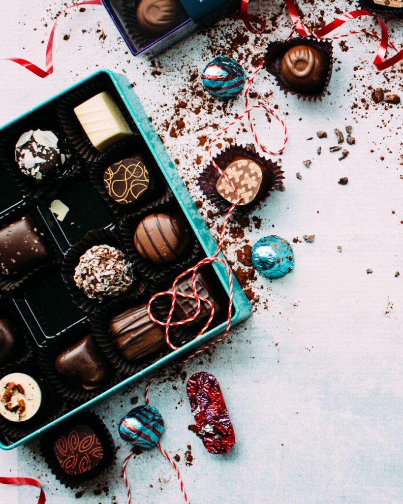 czekoladki dla gości weselnych
